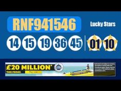 Here is the Euromillions results and UK Euromillions Millionaire raffle on YouTube via Euromillionshub.com http://www.youtube.com/watch?v=KnMqLujzYvo