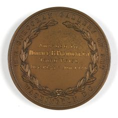 Bronze medal awarded to Maurice Prendergast from Corcoran Gallery of Art ca. 1923-1924 at Williams College Museum of Art.