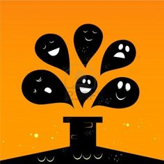 Collection of vector stylized Ghost creatures.