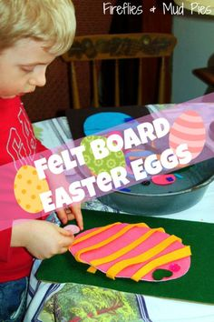Felt Board Easter Eggs - Make a felt Easter Egg for the kids to decorate over and over again!