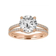 The Engagement Ring Trends to Watch Out for in 2017   Brides I like the split band in rose gold.