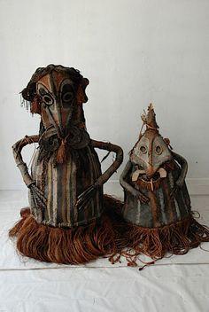 New Guinea Woven Dance Masks