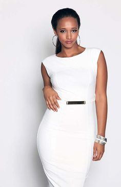 This Wet Look Side Midi Belted Dress is guaranteed to turn heads!