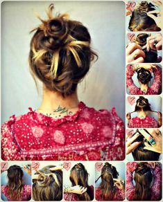 #DIYhair Friday- A beautiful Hot Mess of hair. - How To Hair - DIY Hair Resource From How To Hair Girl