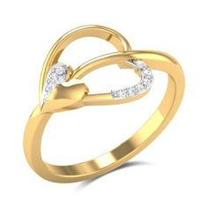 Set in Yellow with SI-IJ) Certified Diamonds Diamond Studs, Diamond Rings, Diamond Jewelry, Gold Rings Jewelry, Womens Jewelry Rings, Jewlery, Gold Ring Designs, Heart Shaped Rings, Schmuck Design