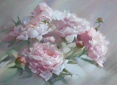 Пионы Margie Peonies Margie 48×65. 2013