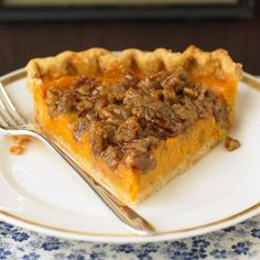 For a stress-free dinner party, plan ahead, and prepare desserts like this delicious sweet potato pie with pecan topping in advance.