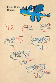 Learn to draw dragons and monsters using numbers. Simple to follow steps show…