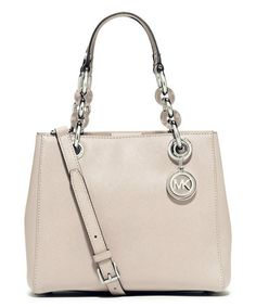 $249.99 marked down from $298! Michael Kors Cement Cynthia Small Saffiano Leather Satchel #michaelkors #satchel #purse #zulily #zulilyfinds