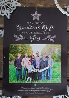 Greatest Gift Chalkboard Christmas Card Template
