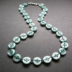 Button necklace.
