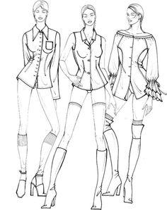Учимся рисовать fashion-эскиз. Урок 24. Схематичный рисунок. Рубашки и жилеты