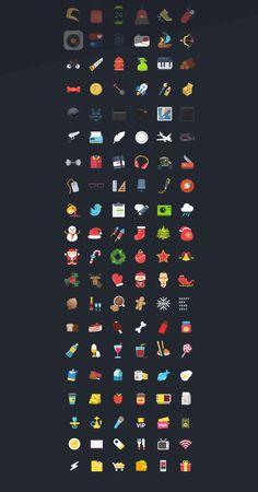 Nice Set of Free Flat Icons - Free Download : 120+ Free Flat PSD Colorful Icons | Designbeep