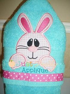 Bunny Face Applique Design