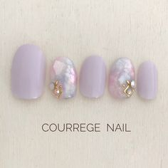Chrime Nails, Nails Now, Hair And Nails, Manicure Nail Designs, Manicure Y Pedicure, Nail Art Designs, Korean Nail Art, Korean Nails, Fancy Nails