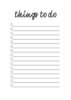 Printable simple to do list for better organization :)
