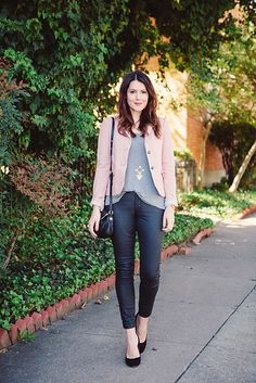 A Gap blazer and tank as featured on the blog @Kendi Everyday.