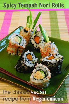 Woman in Real Life:The Art of the Everyday: Spicy Tempeh Nori Rolls from Veganomicon #VeganCookbookLove