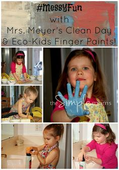 #MessyFun with mrs. meyer's clean day & eco-kids finger paints :: mrs. meyer's NEW foaming handsoaps :: review + giveaway by theSIMPLEmoms, ...