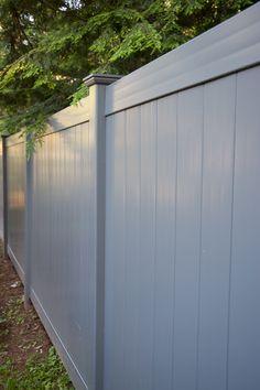 slate gray pvc vinyl privacy fence panels 1