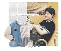 """Kyungsoo: i´d pick you again and again if i had to."" by yxing ❤ liked on Polyvore featuring Oris, Pier 1 Imports, JanSport, Chicnova Fashion, H&M, Muji, country, kpop, EXO and kyungsoo"