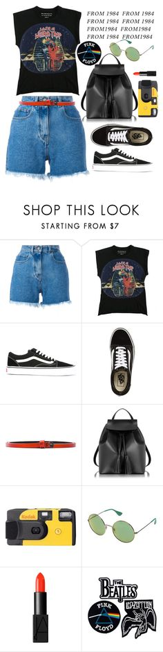 """Pop like a robot from 1984..."" by xmoonagedaydreamx ❤ liked on Polyvore featuring Philosophy di Lorenzo Serafini, Balenciaga, Vans, Haider Ackermann, Le Parmentier, Kodak, Ray-Ban, NARS Cosmetics and Floyd"