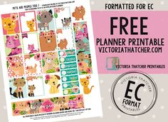 Free Printable Pets Are People Too Planner Stickers from Victoria Thatcher