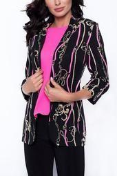 Black Fuchsia Chain Print Jacket