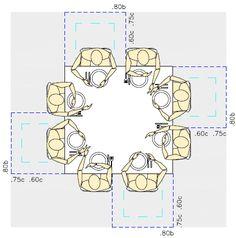 Figura 18.1 Planta – dimensões mínimas de conforto