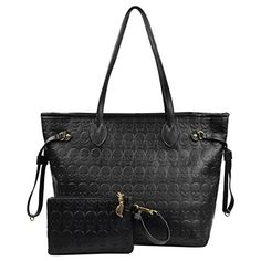 Micom Korean Style Women Black Devil Skull Pu Leather Tote Bag Shopping Bag with Clutch Handbag -- Read more reviews of the product by visiting the link on the image.Note:It is affiliate link to Amazon. #comment4comment