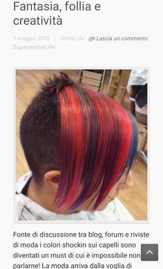 Oggi si mette un po di follia nel colore! Il nuovo articolo di Lorenzo Belardi Hair stylist! Www.experiencelife.it #hair #hairstyle #instahair #TagsForLikes.com #hairstyles #haircolour #haircolor #hairdye #hairdo #haircut #longhairdontcare #braid #fashion #instafashion #straighthair #longhair #style #straight #curly #black #brown #blonde #brunette #hairoftheday #hairideas #braidideas #perfectcurls #hairfashion #hairofinstagram #coolhair