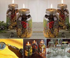 mason jar oil candles
