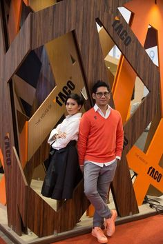 Eko & Audrey - Designers of our booth that won 1st place for best design