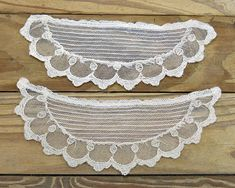 Vintage Antique Embroidered Filet Lace Hand Made Collar Products Hot Sale Collars & Cuffs