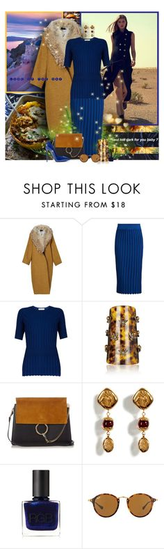 """""""Look of the Day"""" by lady-redrise ❤ liked on Polyvore featuring 10 Crosby Derek Lam, Altuzarra, Alexander McQueen, Chloé, Chanel, RGB and Ray-Ban"""