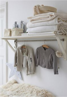 @penny shima glanz Holland, I thought this was a good idea. A shelf over the changing table for storage, and maybe a couple days of outfits.