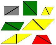 Constructive Triangles Rectangular Box A - Printable Montessori Sensorial Cards by Montessori Print Shop.