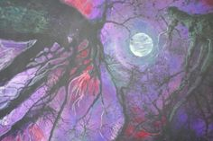 Winter moonOriginal Signed Altered Art by dahliahousestudios, $99.00