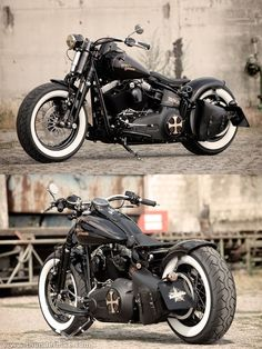 Customized Harley-Davidson Softail Cross bones Bobber by Thunderbike Customs
