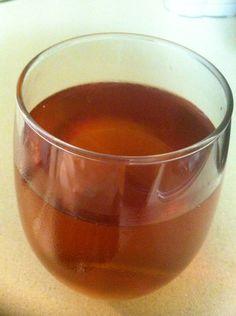 Homemade Iced Honeybush Tea on a hot summers day ❤