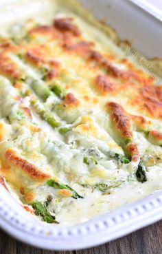 Creamy Italian Asparagus. from willcookforsmiles.com
