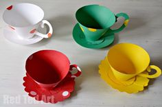 Paper Teacup Printable & Tea Party Games - use for our BBB tea tasting session (though obviously not for use with actual tea!)
