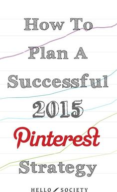 What Pinterest-related goals did you accomplish in 2014? A certain number of followers? Increased average engagement? Higher traffic from Pinterest? Implementing Rich Pins? Optimizing your website for Pinterest? Read the full article! @hellosociety