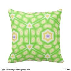 Light colored pattern pillows