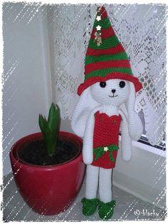 Mein Weihnachtshäschen   Anleitung: http://en.dawanda.com/product/73365243-Weihninchen---Santas-fleissiges-Haeschen