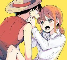 Luffy X Nami, Nami One Piece, One Piece Fanart, Nico Robin, The Masterpiece, Nalu, Doujinshi, Fan Art, Manga