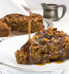 gluten-free egg-free dairy-free and refined sugar-free Upside Down Sticky Toffee Pudding