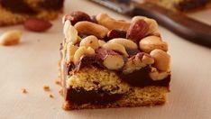 Easy Nutty Fudge Bars