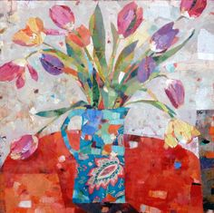 Sally Anne|Fitter : Tulips in a Paisley Jug