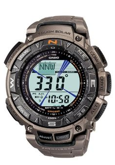 Casio Protrek Watches - Designed for Durability. Casio Protrek - Developed for Toughness Forget technicalities for a while. Let's eye a few of the finest things about the Casio Pro-Trek. Casio Protrek, Casio Digital, Digital Watch, Casio Watch, Sport Watches, Watches For Men, Casio G Shock Watches, Casual Watches, Men Watches